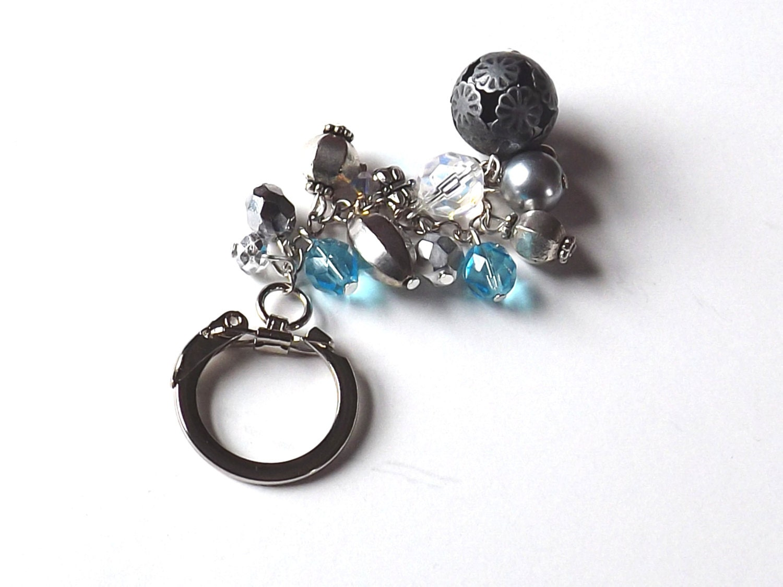 handmade beaded keychain key chain bag charm by feltandgem