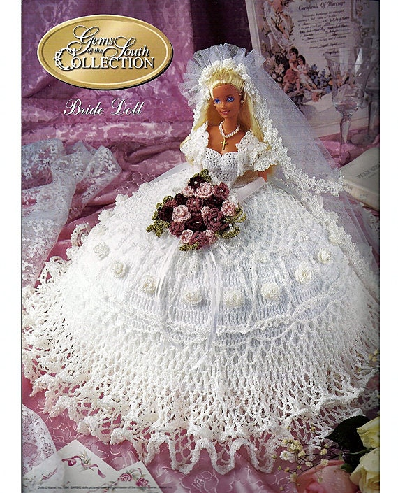 Crochet Pattern American Girl Doll : Gems of the South Collection Bride Doll Annies Calendar Bed