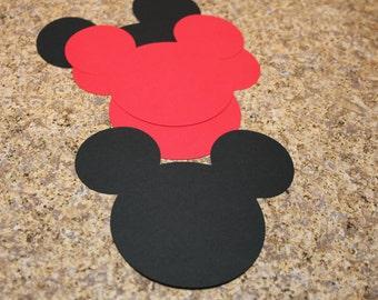 "Mickey 3 1/2"" Die Cuts (8)"