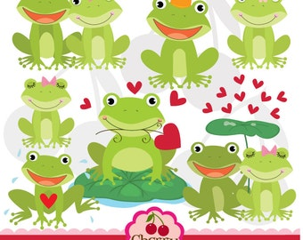 Sweet Froggie digital clipart set-Personal and Commercial Use-paper crafts,card making,scrapbooking,web design