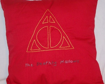 Harry Potter Inspired, Deathly Hallows, Throw Pillow