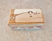 Love Birds Ring Bearer Box, Pillow Alternative, Rustic, Personalized, by Green Orchid Design Studio