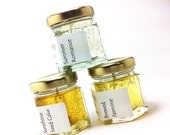 Sampler Scented Yellow Gel Candles Set Cheer Up Get Well Soon Friend Gift Choice of Scents Trio Variety Pack