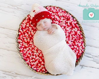 Baby  Valentine Hat- Candy Corn Hat - Photography Prop