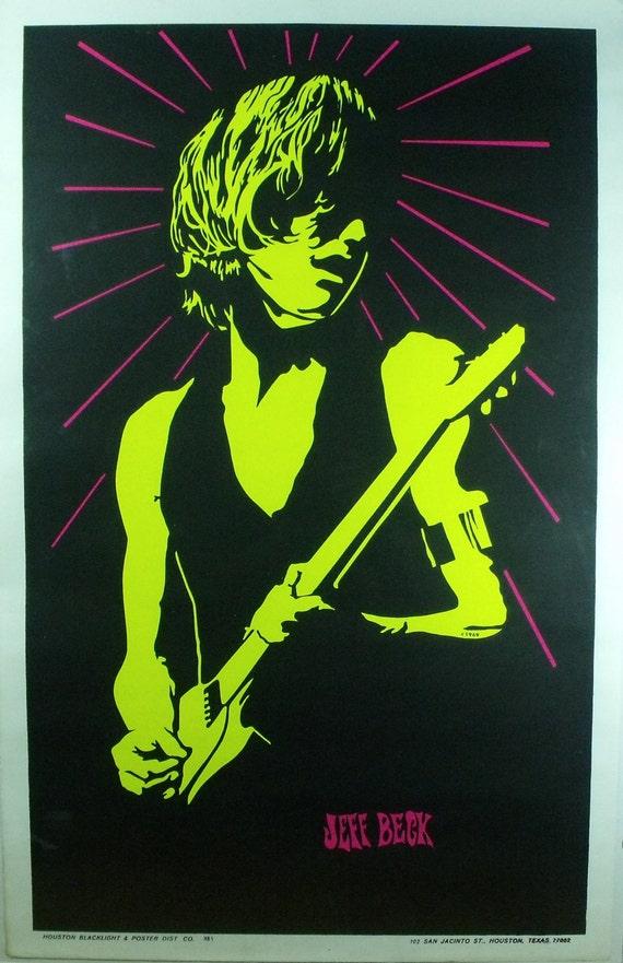 Vintage Blacklight Poster 1969 Jeff Beck by SanctuaryGoods ...