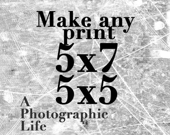 Choose a ((5x7 or 5x5)) size for any photo in my shop
