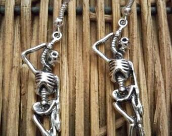 Macabre Skeleton Earrings, Skeleton Jewelry, Death Jewelry, Hangman Jewelry, Pirate Earrings - Pirate Costume