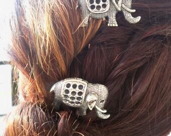 Handmade  Elephant  Barrettes
