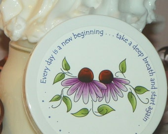 Whipped Body Butter - Inspirational Design (New Beginning, Purple Flowers)
