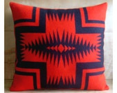 Wool Pillow - Red Arrow Native Geometric Tribal