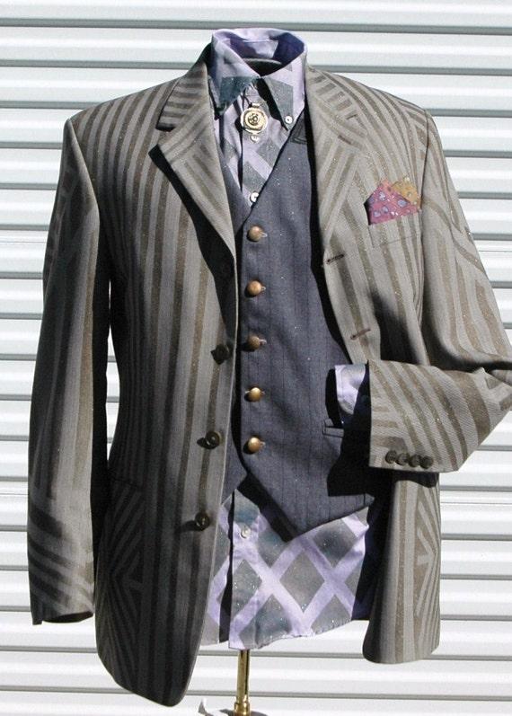 Sparkling Pallister Mens 38R  Steampunk Dazzle Jacket