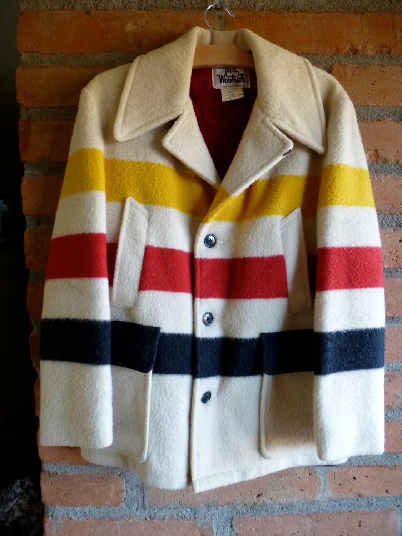 Reserved Vintage Woolrich Hudson Bay Style Blanket Jacket Red