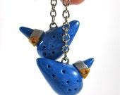 Legend of Zelda inspired Ocarina earrings