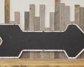 Vintage Industrial Metal Arrow Sign