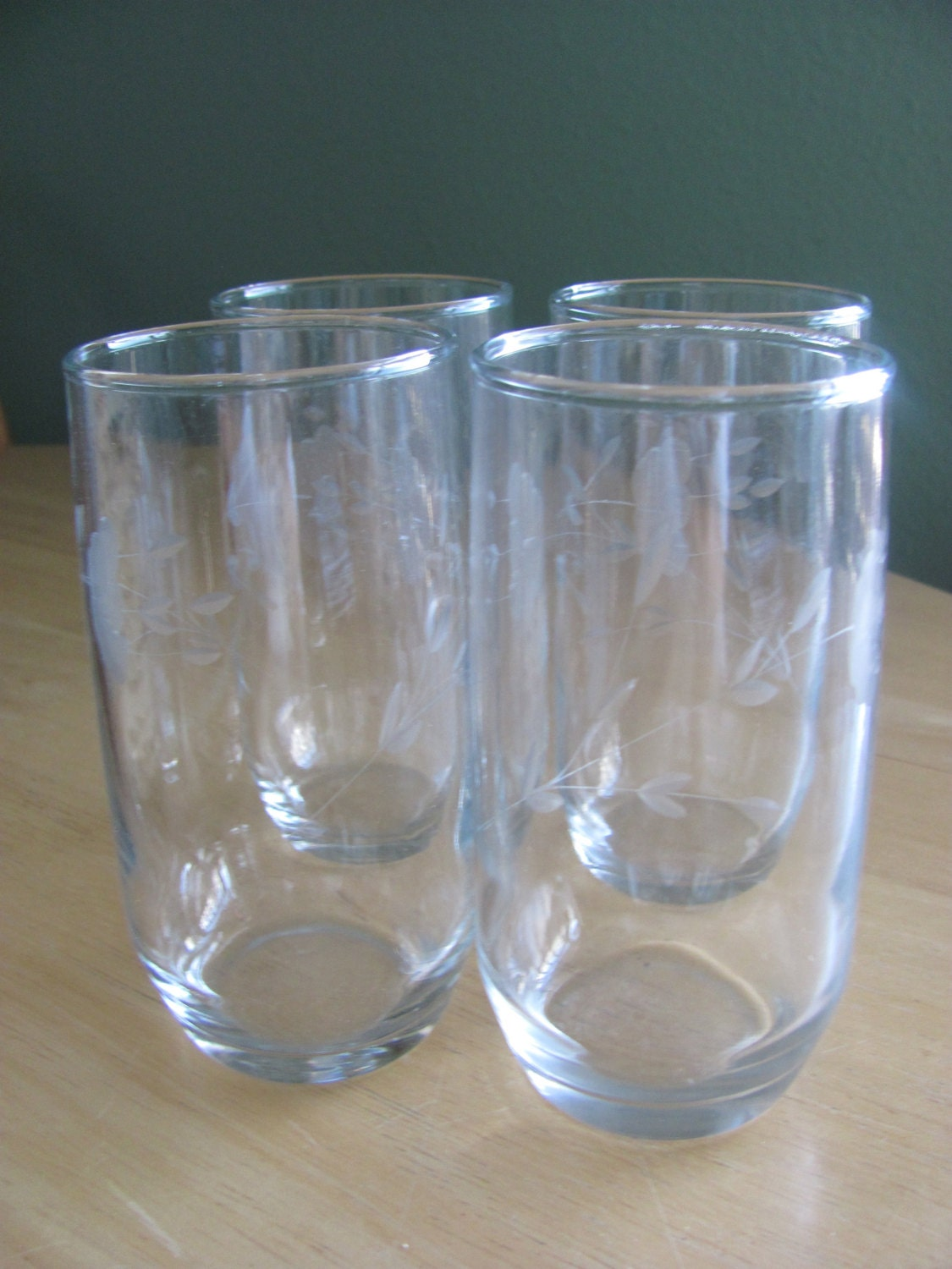 Princess house crystal etched drinking glasses heritage for Princess housse