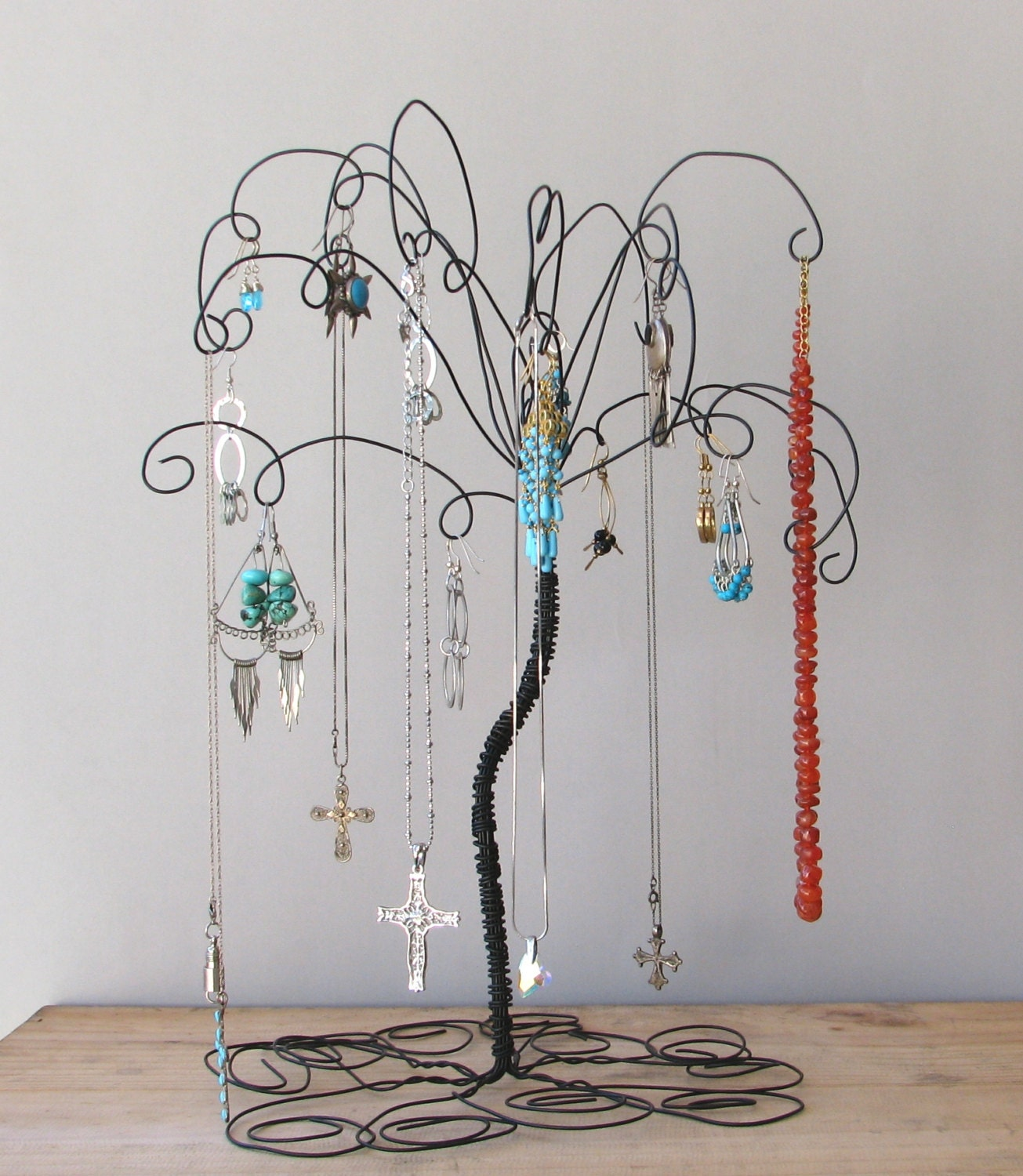 jewelry holder earring organizer jewelry wire jewelry tree