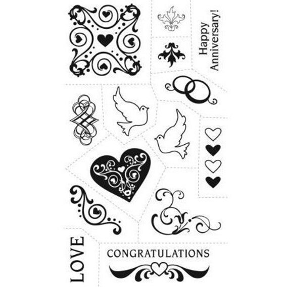 Acrylic Stamps Love Anniversary Heart Valentine Wedding