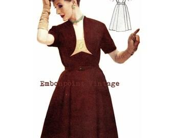 Vintage Sewing Pattern 1956 Dress PDF Plus Size (or any size)  - Pattern No 19 Ava