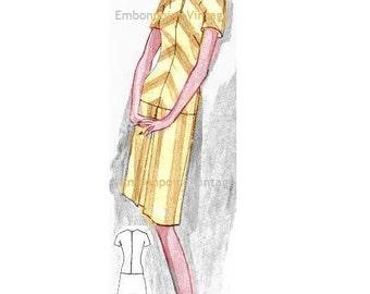 Plus Size (or any size) Vintage 1969 Dress Pattern - PDF - Pattern No 34 Katrina