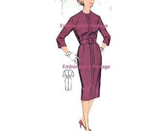 Plus Size (or any size) Vintage 1950s Womens Dress Pattern - PDF - Pattern No 85 Joanne