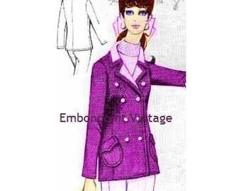 Plus Size (or any size) Vintage 1969 Blazer Pattern - PDF - Pattern No 79 Tara