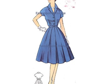 Plus Size (or any size) Vintage 1950s Dress Pattern - PDF - Pattern No 67 Sherry