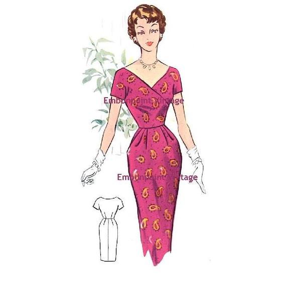 Plus Size (or any size) Vintage 1950s Dress Pattern - PDF - Pattern No 62 Wanda