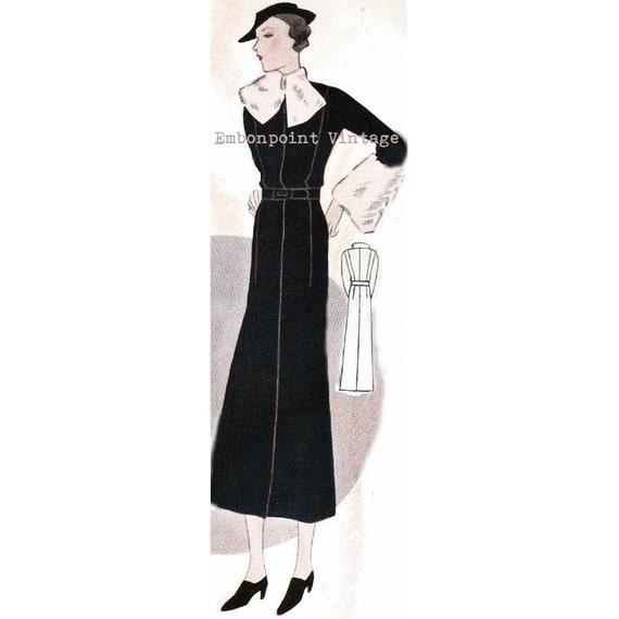 Plus Size (or any size) Vintage 1934 Dress Sewing Pattern - PDF - Pattern No 1532 Minnie