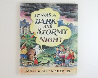 Vintage Adventure Storybook - It Was a Dark and Stormy Night - Ahlberg - Illustrated Book First Edition Book - Treasure Hunt Childrens Story
