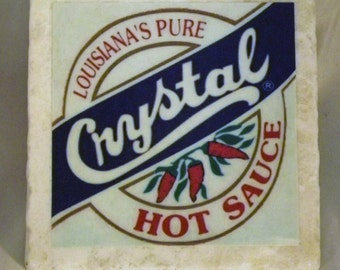 Crystal Hot Sauce New Orleans Coaster