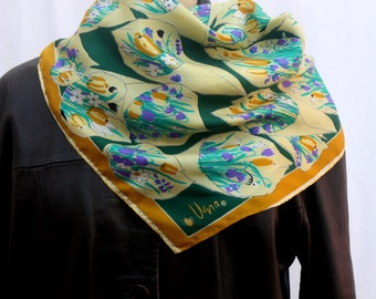 Vera Floral Square Scarf, bouquets of flowers, vintage 1960s