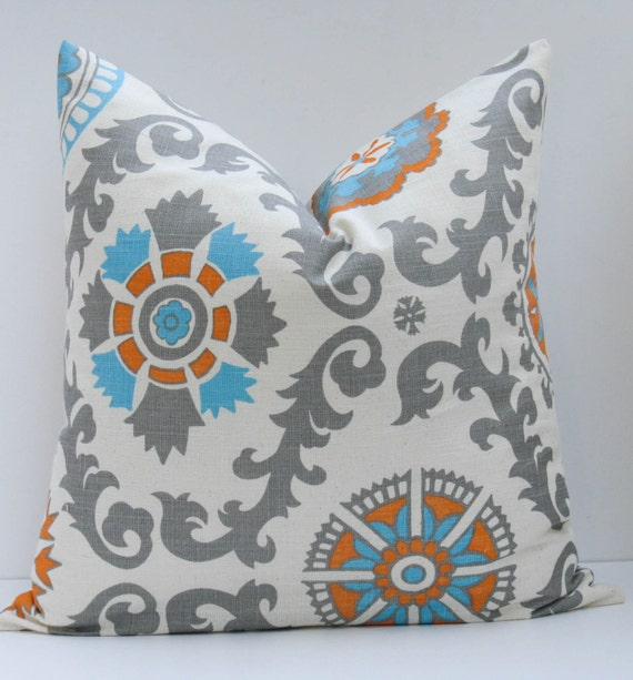 ONE 20 x 20 Throw Pillow Covers Suzani Pillow by EastAndNest