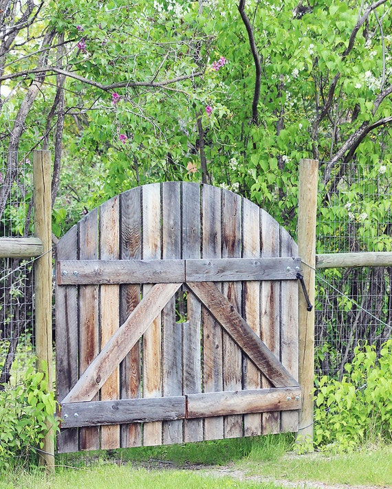 Items similar to gate photograph rustic gate photograph for Garden gate designs wood rustic