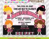 101: DIY - Pink & Black Cheerleader Party Invitation Or Thank You Card