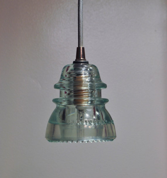 Unavailable listing on etsy for Insulator pendant light