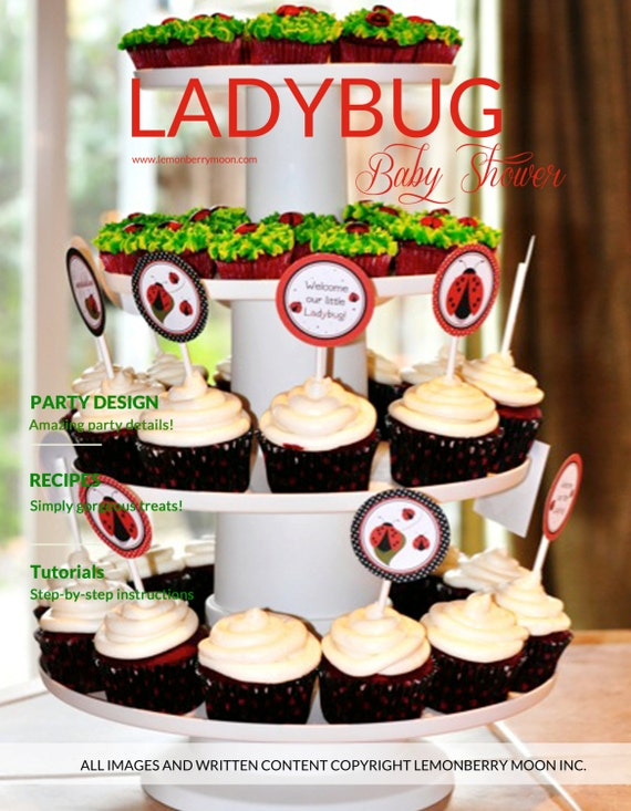 Ladybug Baby Shower Party Plan & Labels -  INSTANT DOWNLOAD - A 30-page guide for creating this themed baby shower