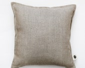 Decorative grey linen  pillow cover - decorative pillows covers- cushions - natural linen pillow case  0016