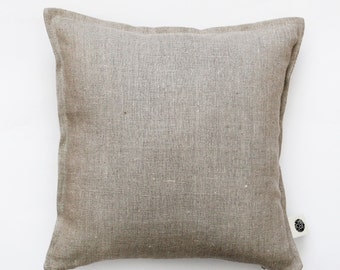 Linen pillow cover - decorative pillows covers- linen cushions - natural linen pillow case  0016