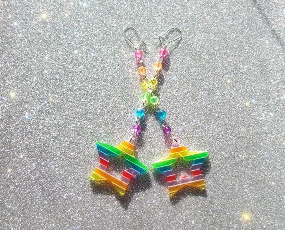 Magical Rainbow Star Earrings II