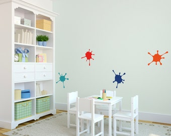 Wall Decal Custom Vinyl Art Stickers - Paint Splatter Set