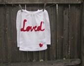 Simply Loved Girls T shirt Valentine