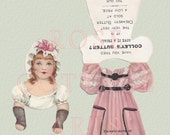Digital Download Antique Paper Doll with Dress and Jump rope Die Cut Victorian Scrap Graphic Image