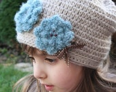 Lydiya Slouchy Hat - Crochet pattern - Toddler, Child and Adult sizes - pdf format / eBook