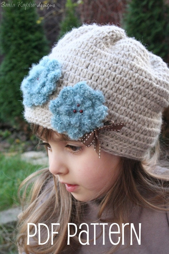 Crochet Slouchy Hat Pattern For Child : Lydiya Slouchy Hat Crochet pattern Toddler Child and