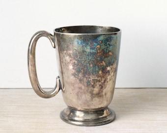 Vintage Walker & Hall Sheffield Silverplate Tankard Mug - 1/2 Pint Cup
