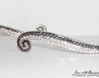 Swarovski Crystal Swirl Bling Drawer Pulls
