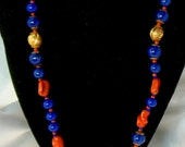 Vintage Necklace Glass Signed Miriam Haskell