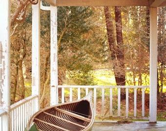 Canoe Photograph, summer, porch, boat, shore decor, lake decor, cottage