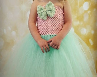 Light Pink and Mint Green Tutu Dress