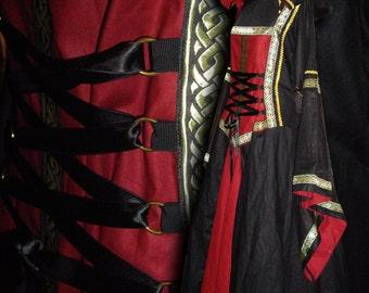 MADE TO ORDER Medieval garb, Cotehardie Renaissance, woman robe, Dress Reenactment larp